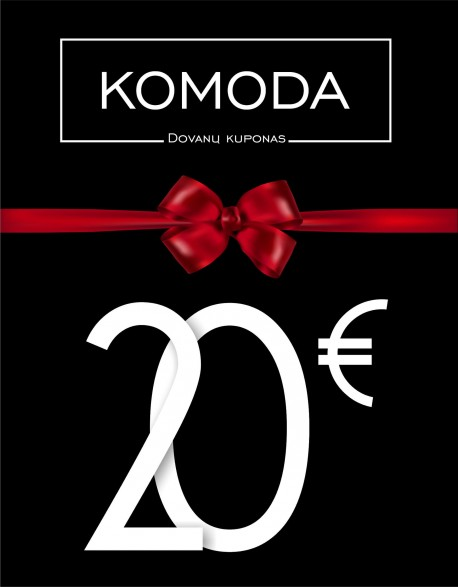 Dvidešimties eurų vertės dovanų kuponas