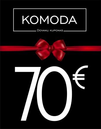 Septyniasdešimties eurų vertės dovanų kuponas