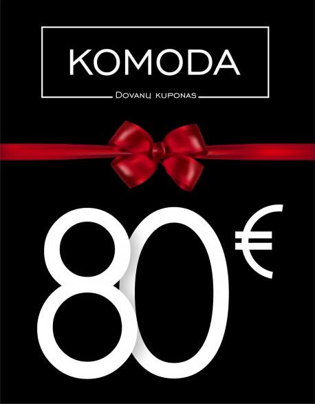 Aštuoniasdešimties eurų vertės dovanų kuponas