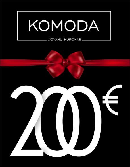 Dviejų šimtų eurų vertės dovanų kuponas