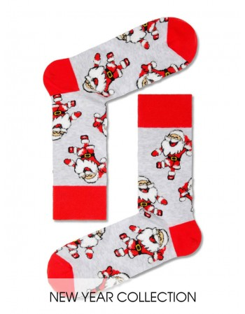 "Мужские носки ""Santa Grey Funny"""