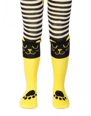 """Vaikiškos pėdkelnės """"Yellow Cat"""""""