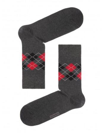 """Men's Socks """"Happy Dark Grey"""""""