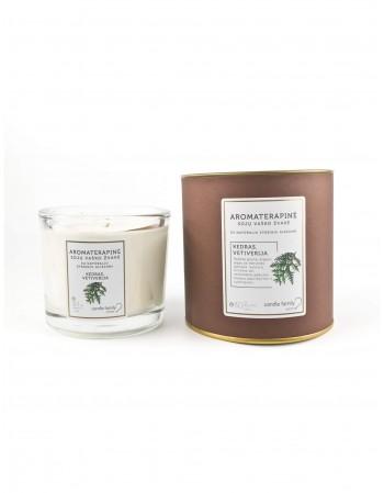 """Aromaterapinė žvakė """"Kedras, Vetiverija"""""""