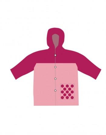 "Baby Raincoat ""Pink Drop"""