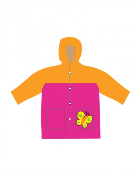 "Vaikiškas Lietpaltis ""Orange Butterfly"""