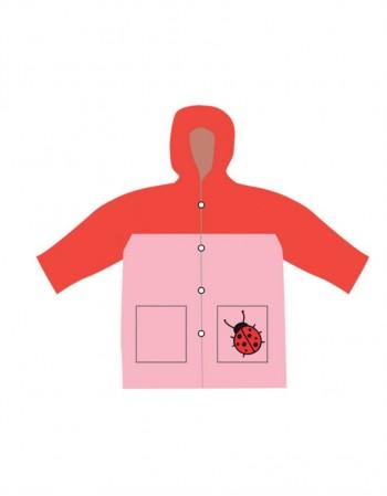 """Baby Raincoat """"Pink Ladybird"""""""