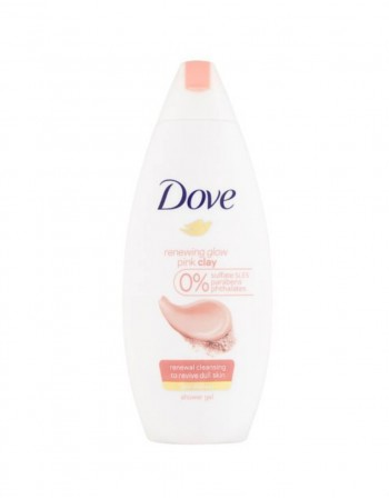 """Dušo Želė """"Dove Renewing Glow Pink Clay"""", 250 ml"""