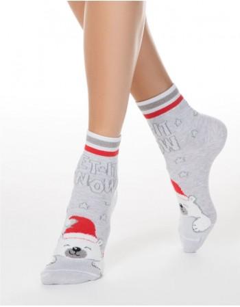 """Moteriškos kojinės """"Santa Bear"""""""