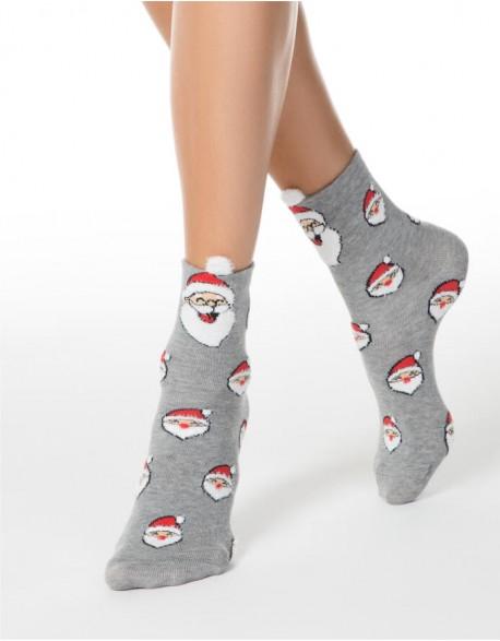 """Moteriškos kojinės """"Happy Santa"""""""