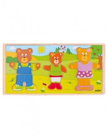 "Деревянная мозаика ""Bear Family"""