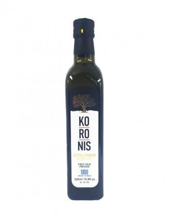 """Масло оливковое экстра вирджин """"Koronis"""", 500 мл, стеклянная бутылка"""