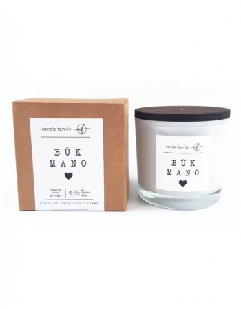 """Soy wax candle """"Būk mano"""""""