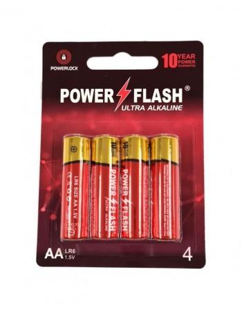 Batteries POWER FLASH AA LR6 1.5V