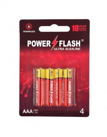 Batteries POWER FLASH AAA LR03 1,5V