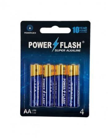 Элементы питания POWER FLASH Super Alkaline AA LR6 1,5V