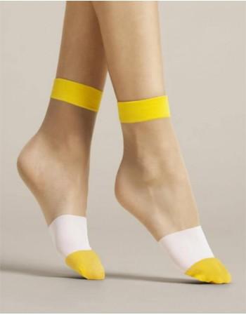 """Женские носочки """"Bicolore Yellow"""" 15 Den"""