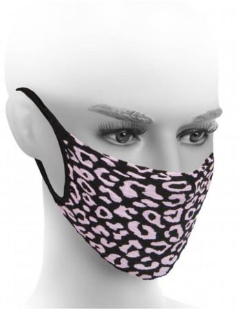 Aizsargājoša sejas maska ''Leopard Neon Pink''