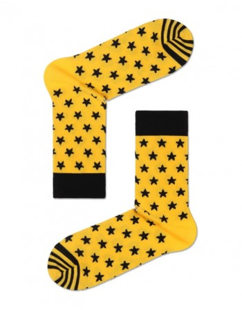 Men's Socks ''Happy Yellow Stars''