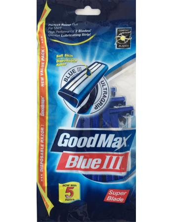 """Vienreizlietojamie vīriešu skuvekļi """"GoodMax Blue"""" 5gab"""