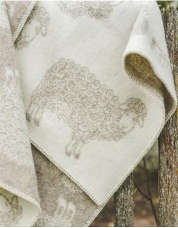 "Natural wool kid blanket ""Sand Sheep"""