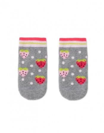 """Детские носки """"Strawberries Grey"""""""