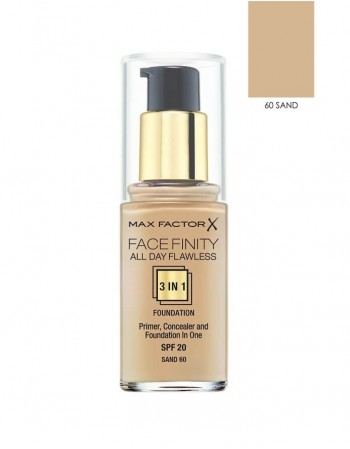Kreminė pudra Max Factor Facefinity All Day Flawless 3in1 60 Sand